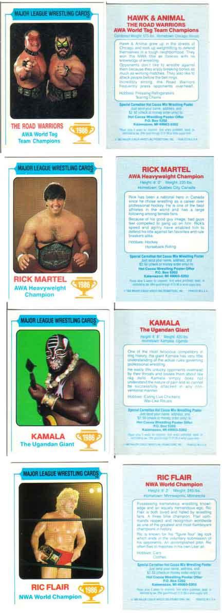 1986 Monty Gum Super Wrestling Stars Butch Reed #99